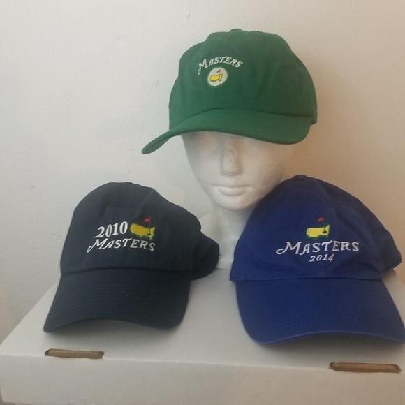 ba38dec32af45 3 Masters Golf Augusta National Strapback Caps. M 5ad6473431a376d9f79980d4